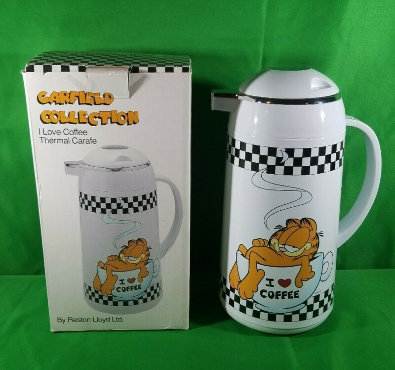 "Rare Garfield Collection ""I Love Coffee""  Thermal Carafe - Never Used- With Box"
