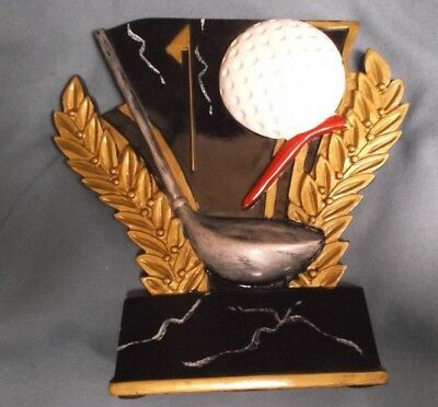 black and gold  self standing GOLF resin award  trophy  Golf Trophies And Awards