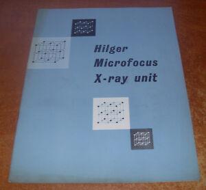 Hilger-Watts-Ltd-Booklet-Hilger-Microfocus-X-Ray-Unit-1958
