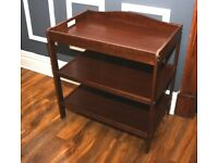 Brown 3 Tier Baby Changing Unit