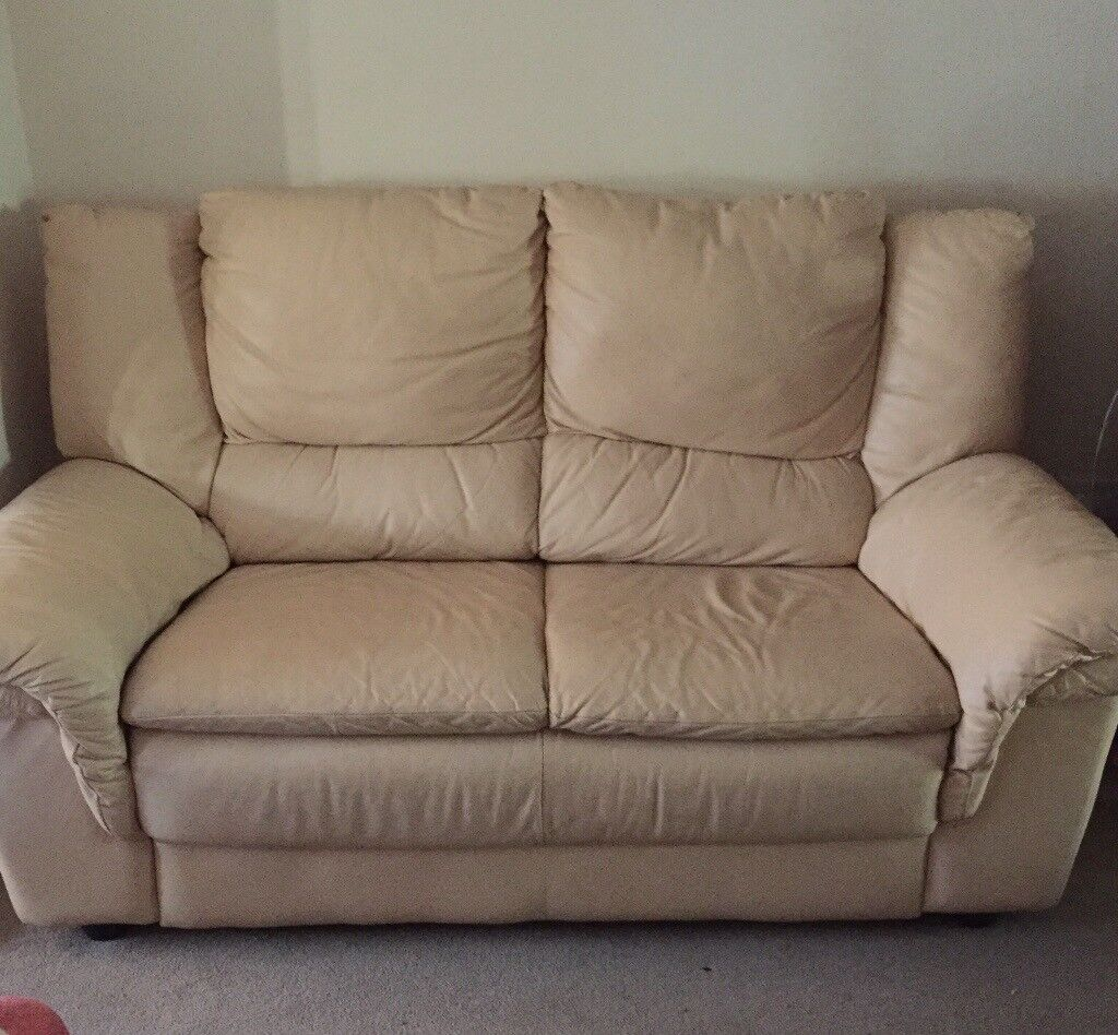 Sofa two seater faux leather