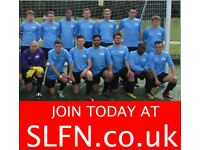 WEEKEND 11 ASIDE FOOTBALL IN LONDON, FIND FOOTBALL, PLAY FOOTBALL, new players wanted. 191h3