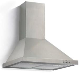 NEW Ancona Pyramid with Rim Stainless Steel 450 CFM Wall Mount Range Hood, 30-Inch