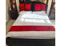 King Sized Real Leather Bed