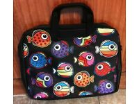 DECRATIVE 15.6 LAPTOP SLEEVE CASE BAG WITH FISH PATTERN