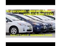 PCO Cars to rent available from just £ 70 per week