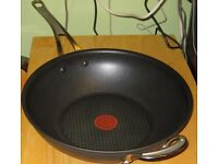 "SUPER JAMIE OLIVER 12"" TEFAL HARD ANODISED INDUCTION WOK"