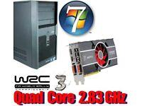 Gaming PC, QUAD CORE 2.83GHz, HD6850 GDDR5 , 6GB Ram,320GB HD