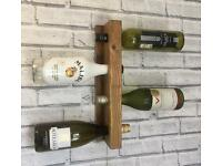 Chunky wall mounted wine rack - solid wood high quality rack.