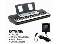 Yamaha YPT255 Electric Keyboard with Music Stand