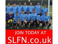 Find a local football team in South London, teams looking for players in London, join team. ah2g