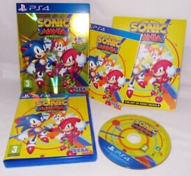 Sonic Mania Plus - Sony Playstation 4 Game - Amazing PS4 Platformer Childrens Kids Retro - Like New