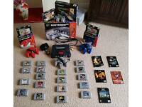NINTENDO 64 Boxed with 18 games (4 boxed) + 3 Pads (2 boxed) + RAM Upgrade and 2 Rumble Paks