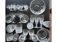 Beautiful Cut Glass Crystal Glasses, Tumbers and Bowls