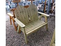 New design of deluxe wooden garden bench
