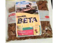 Purina Beta Senior Dog Food Chicken dry biscuit kibbles meat Complete Balanced - 350g sample bag
