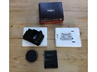 Mamiya 645 waist level finder. Brand new, never used, perfect condition.