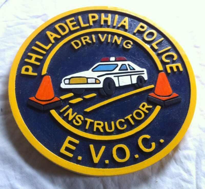 Police Philadelphia Driving Instructor 3D routed wood patch plaque sign Custom