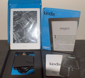 Amazon Kindle (8th Generation) 4GB, Wi-Fi, 6in - White - Boxed - WITH WARRANTY