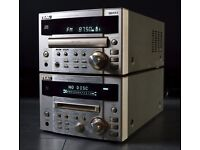 TEAC MINI SOUND SYSTEM WITH REMOTES — *USED* — AMP, CD PLAYER, & MINI DISK PLAYER — £65