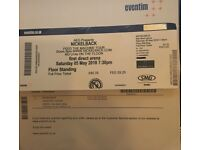 2 x Nickelback standing tickets - Leeds Saturday 5 May