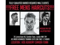 FREE MENS HAIRCUTS!!! - Fully qualified barber requires male clients for advanced training.