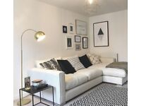 Sofology Majestic Cream Chaise Sofa - Perfect Condition! RRP £1,349