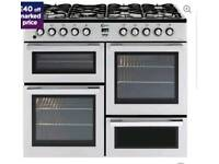 FLAVEL MLN10FRS Dual Fuel Range Cooker - Silver & Chrome £599.99