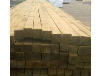 £1.15 per metre 2x2 INCH Timber *A* Graded Tanalised PRESSURE TREATED Scandinavian framing bearers