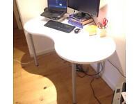 HISSMON/ADILS IKEA desk/table, cashew nut shape