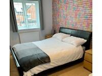 Kingsize sleigh bed & IKEA mattress