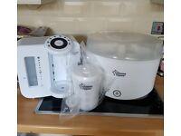 Tommee tippee prep machine, steriliser and travel sterliser