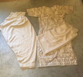 Lovely cream colour suit set for sale