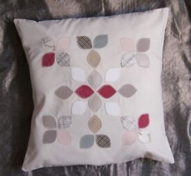 Cushion cover with applique motive HANDMADE 50x50