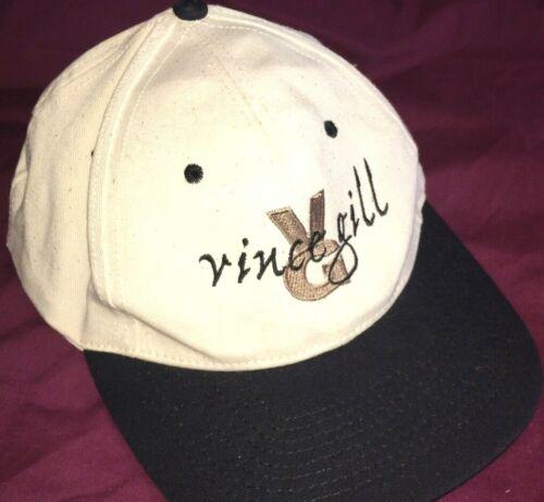 Vtg VINCE GILL HAT Rare Baseball Cap COUNTRY MUSIC Tour LIVE Concert LOGO Promo
