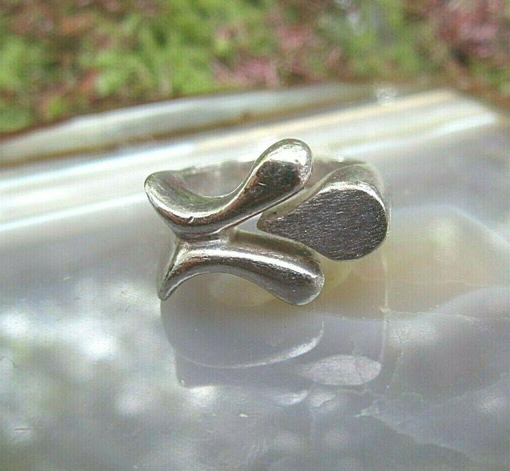 70er jahre designer ring silber 925 größenverstellbar auch ohne stein klasse