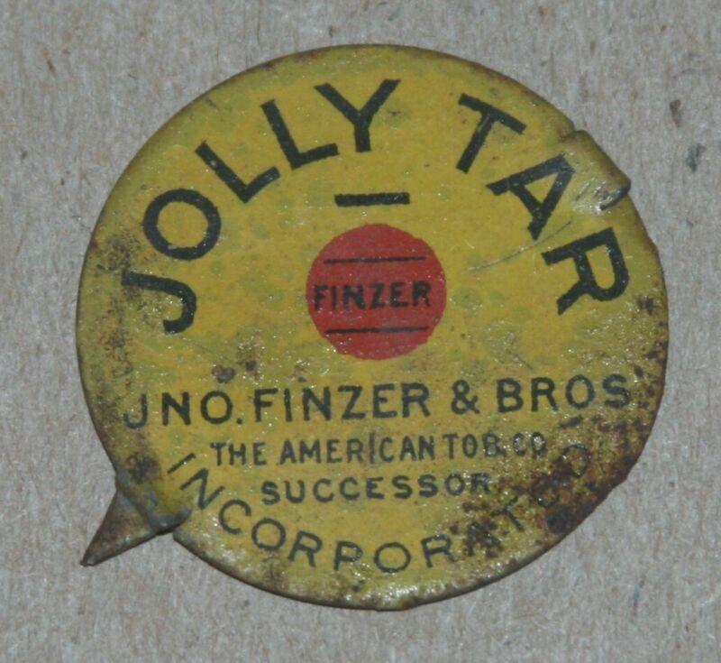 Jno. Finzer & Bros., Jolly Tar Tin Tobacco Tag