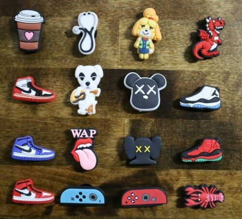 NEW 16 pc Shoe Charms FOR Croc & Bracelet & shoe Wristband Animal Crossing Switc