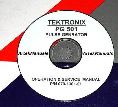 Tektronix Operating Service Manaul Wschematics For The Pg501 Pulse Generator