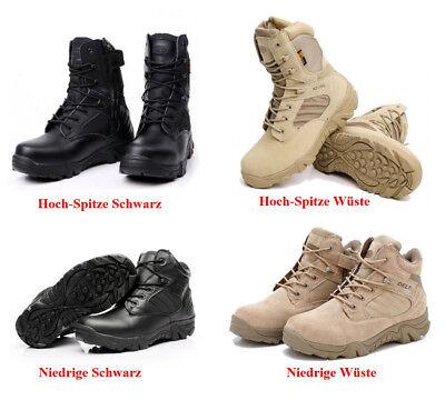 *Herren Leder Schuhe Military Tactical Armee Kampf Combat Stiefel Wandern Boots* ()