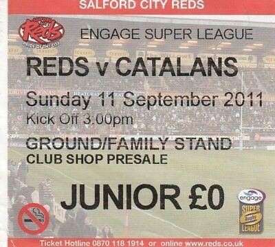 Ticket - Salford v Catalans 11.09.11