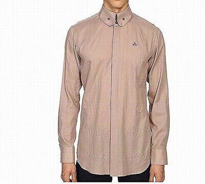 Vivienne Westwood Mens Shirt Beige Size IT 48 US Medium M Button Down $545 803