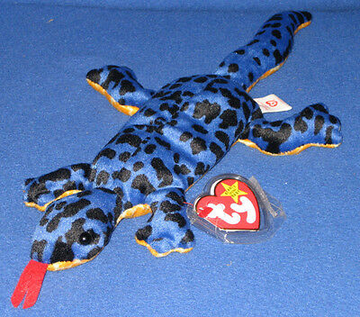 TY LIZZY the LIZARD BEANIE BABY - MINT with TAG - SEE PICS