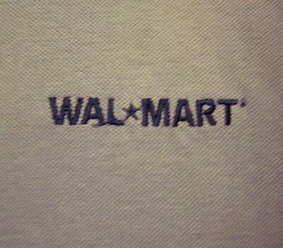 WAL-MART beat-up lrg polo shirt retail worker logo Halloween costume embroidery - Wal Mart Halloween