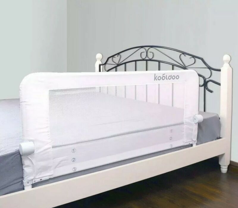 """KOOLDOO 43"""" Fold Down Toddlers Safety Bed Rail"""