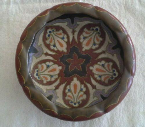Antique Dutch Art Nouveau 1926 GOUDA Pottery Decorative Bowl Made in Holland