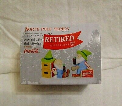 NEW Department 56 North Pole Village Coca Cola THE PAUSE THAT REFRESHES 6003121