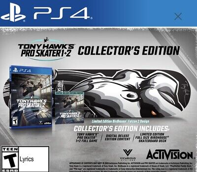 PRE-ORDER Tony Hawk's Pro Skater 1 and 2 Collector's Edition PS4