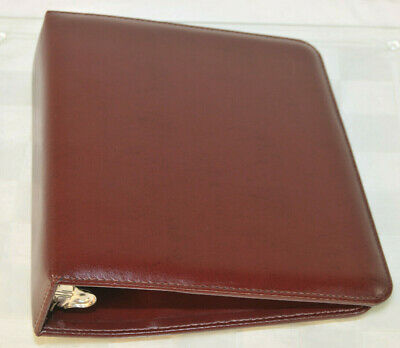 Franklin Covey Classic 7-ring Day Planner Binder Simulated Leather Burgundy Vguc