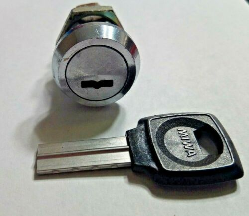 "Miwa Magnetic High Security 3/4"" Cam Lock / Cabinet Lock with Key 